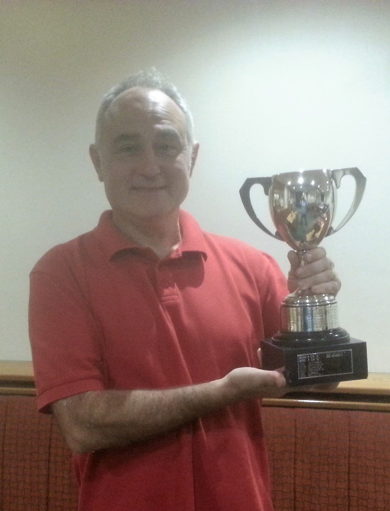 Bill ORourke receiving BR Division A rapidplay cup